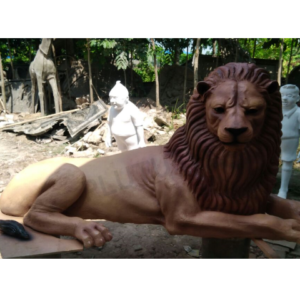 Fiberglass Lion Sculptures
