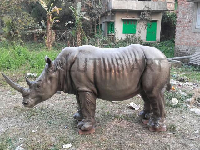 Fiberglass Rhino Sculpture