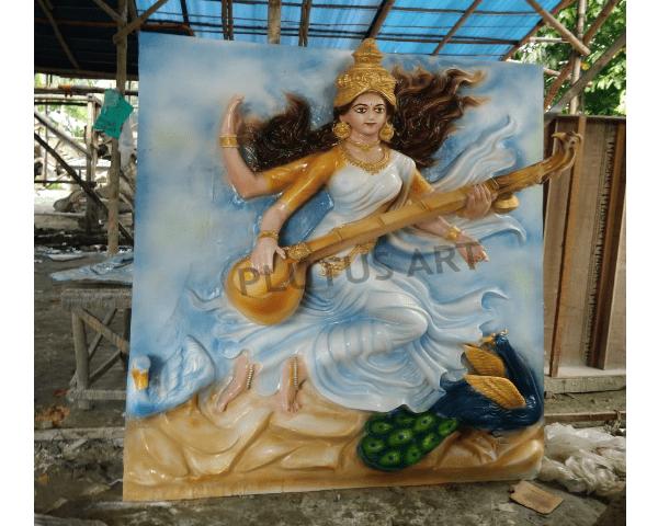Fiberglass Maa Sarawati Statue