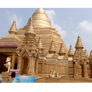 Plutus Art designed, Fiber Made Khajuraha Temple