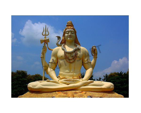 Fiberglass 51 feet lord Shiva Statue