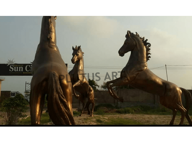 Fiberglass Garden Horse Sculptures