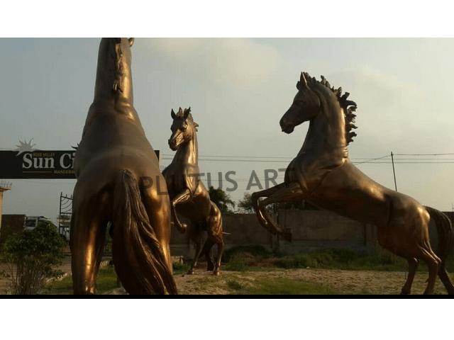 Fiberglass Garden Horse Sculptures