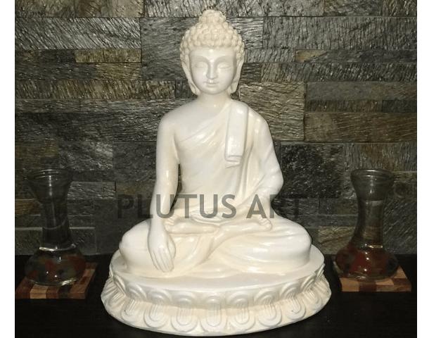 Small Buddha Statue in white Finish