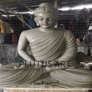 Plutus Art, Clay Finished Buddha Statue