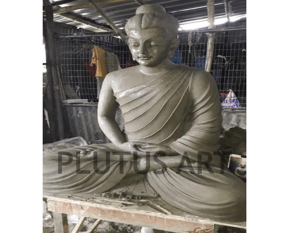 Clay Finished Buddha Statue