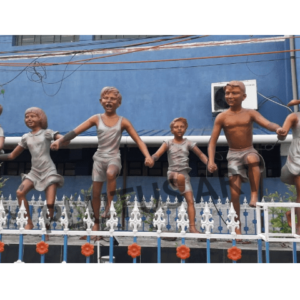 Plutus Art, Fiberglass Children Garden Sculptures