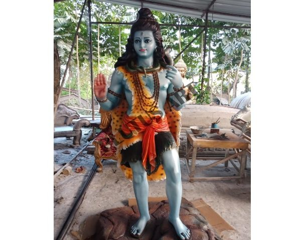 Fiber Made Standing Lord Shiva Statue