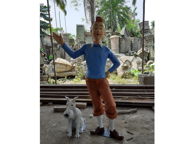 Tintin Fiber Cartoon Statue