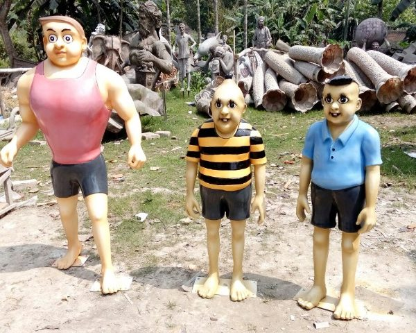 Fiber cartoon statue Batul and his friends