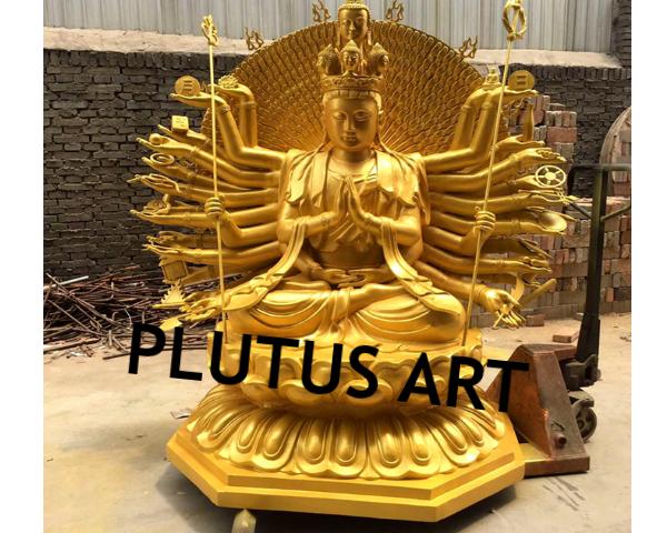 Fiber 1000 Hand Lord Buddha Statue